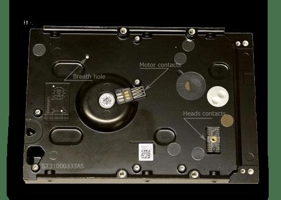 Поверхность герметического блока HDD