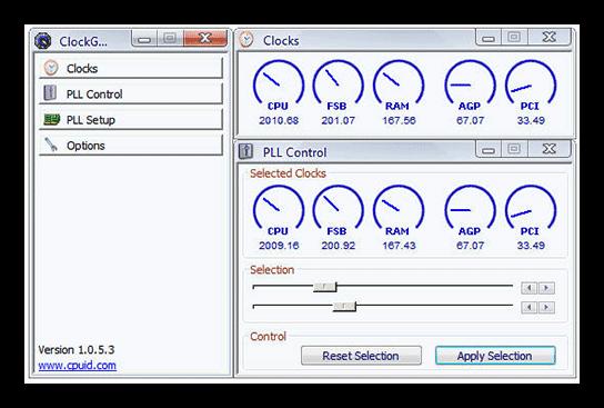 Разгон процессора Intel в программе ClockGen