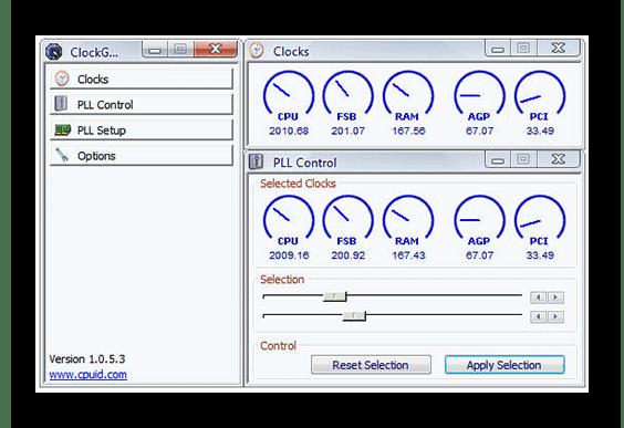 Разгон процессора через ClockGen