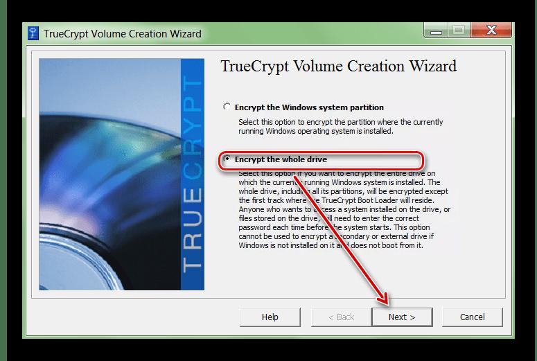 Шифрование целого диска в TrueCrypt