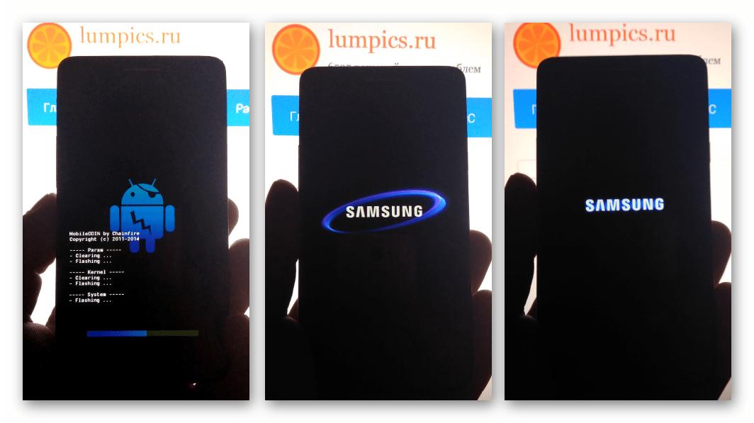 Samsung Galaxy S 2 GT-I9100 Mobile Odin прошивка трех файлов, запуск