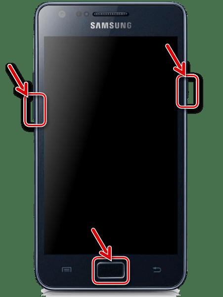 Samsung Galaxy S 2 GT-I9100 переключение в Download-режим для прошивки