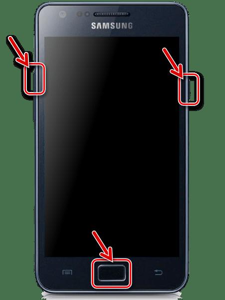 Samsung Galaxy S 2 GT-I9100 запуск рекавери