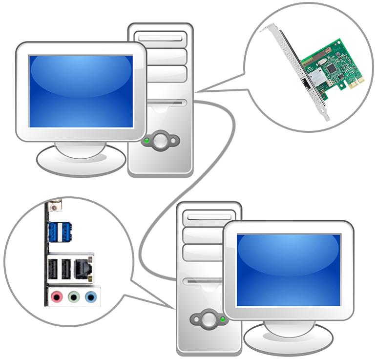 Соединение двух компьютеров сетевым кабелем для создания локальной сети