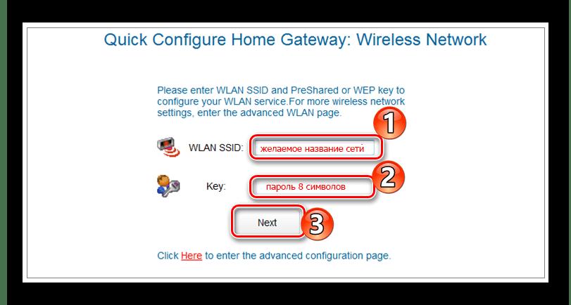 Быстрая настройка беспроводной сети в Huawei_HG532e.
