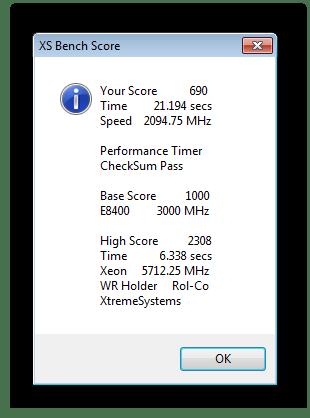 Быстрый тест процессора RealTemp