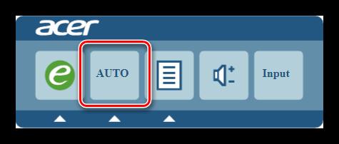 Экранное меню монитора Acer