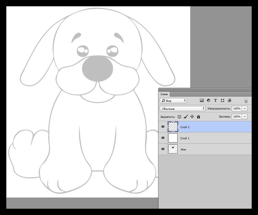 Готовый контур для тренировки рисования мышью в Фотошопе