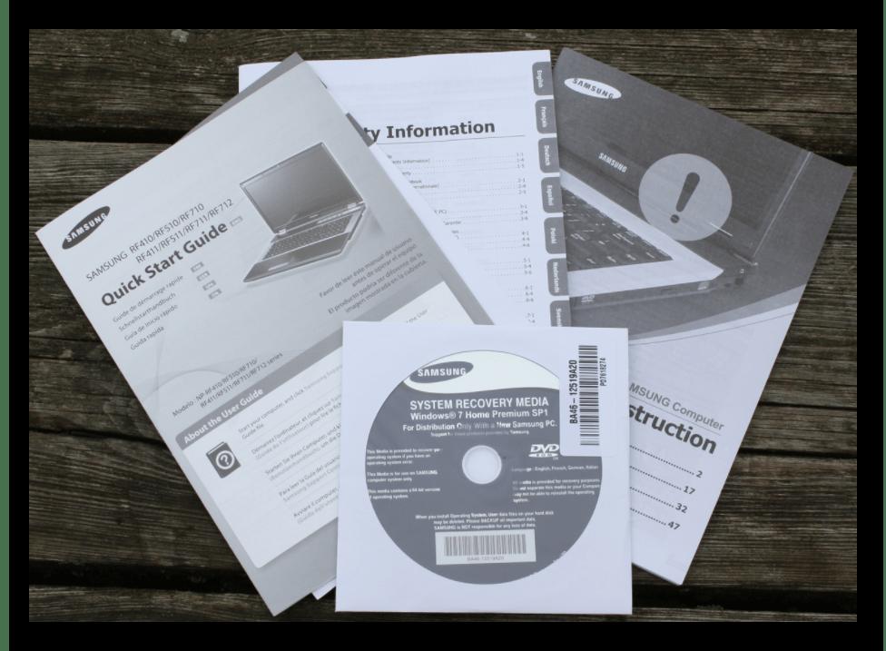 Информация о диагонали в документации к ноутбуку