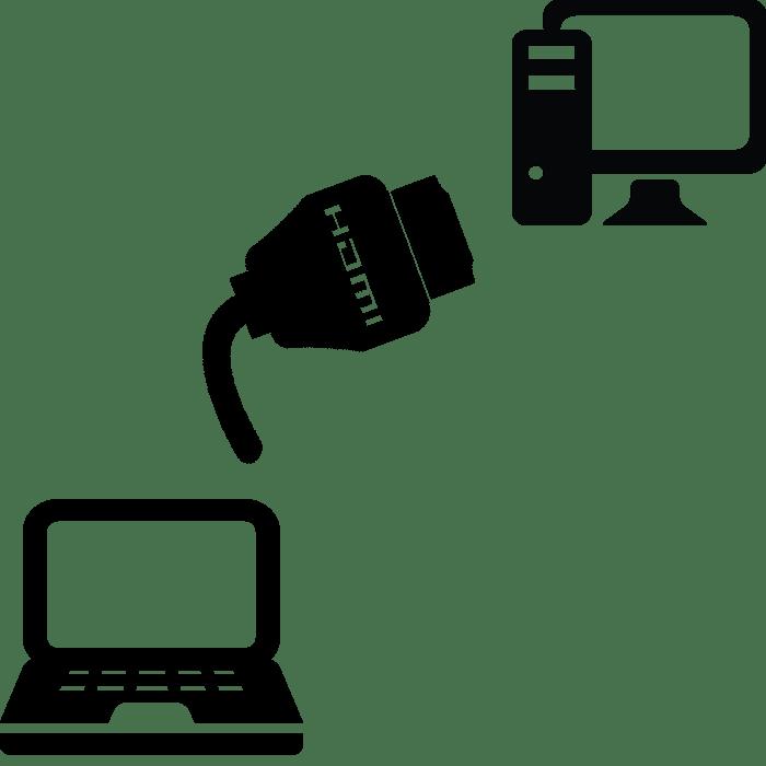 Как подключить ноутбук к компьютеру через HDMI