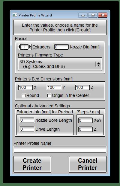 Настройка профиля принтера KISSlicer