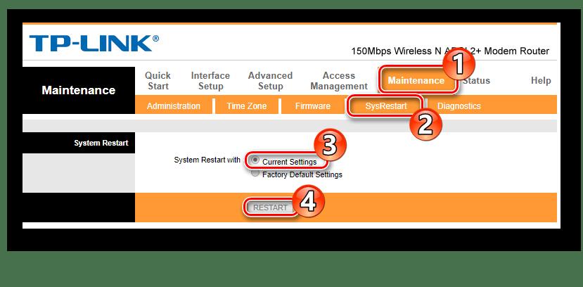 Перезагрузка модемов TP-Link TD-W8901N и ZTE ZXHN H108N