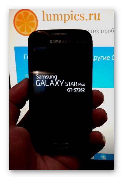 Samsung Galaxy Star Plus GT-S7262 загрузка после прошивки через MobileOdin