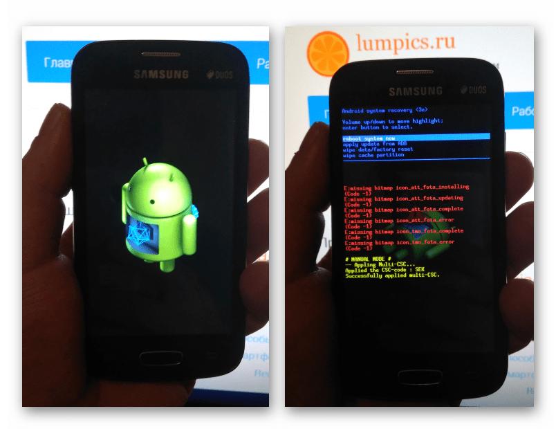 Samsung Galaxy Star Plus GT-S7262 запуск заводской среды восстановления (рекавери)