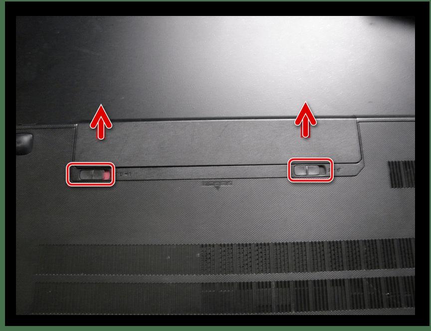 Снятие батареи ноутбука Lenovo G500