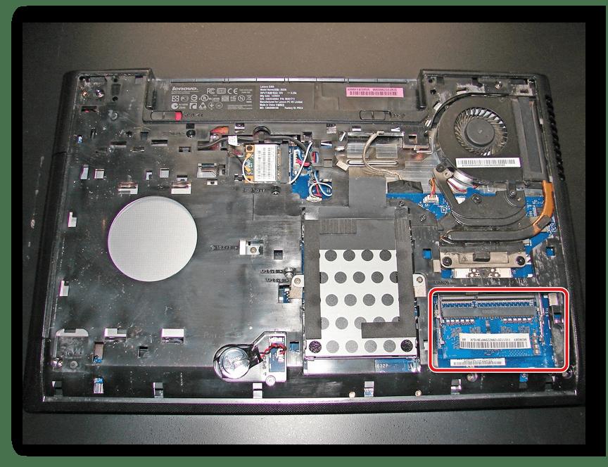 Снятие оперативной памяти Lenovo G500