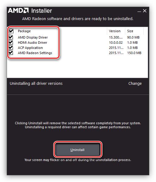 Удаление драйвера видеокарты AMD в Windows 7