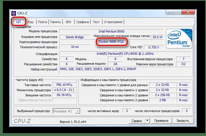 Узнать тип корпуса процессора через программу