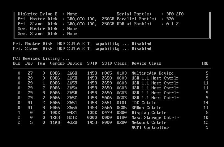 Второй этап тестирования POST BIOS