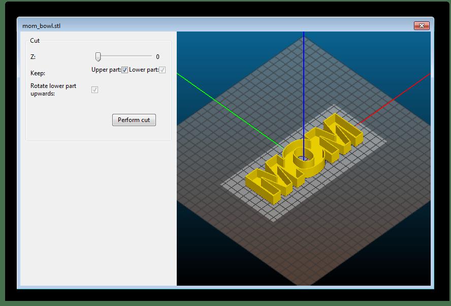 Запуск процесса нарезки в программе Slic3r