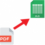 Как конвертировать PDF в XLS