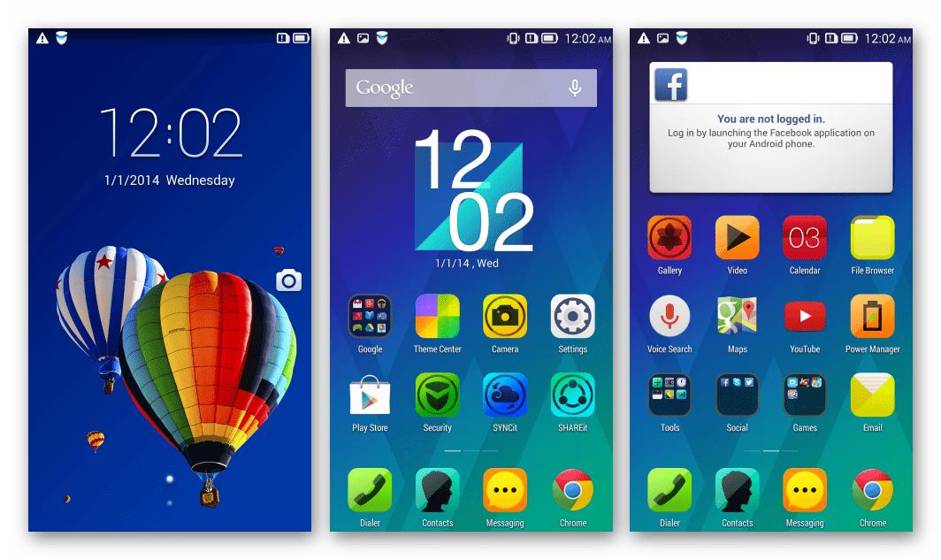 Lenovo S820 запуск Android 4.4 ROW после прошивки через SP Flash Tool