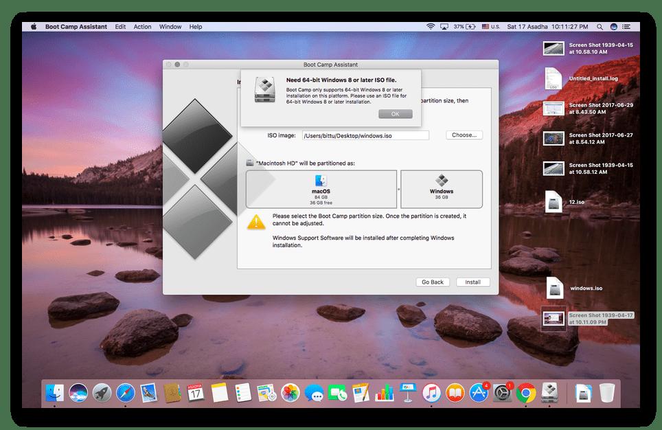 Настройка виртуальной машины Boot Camp для MacOS