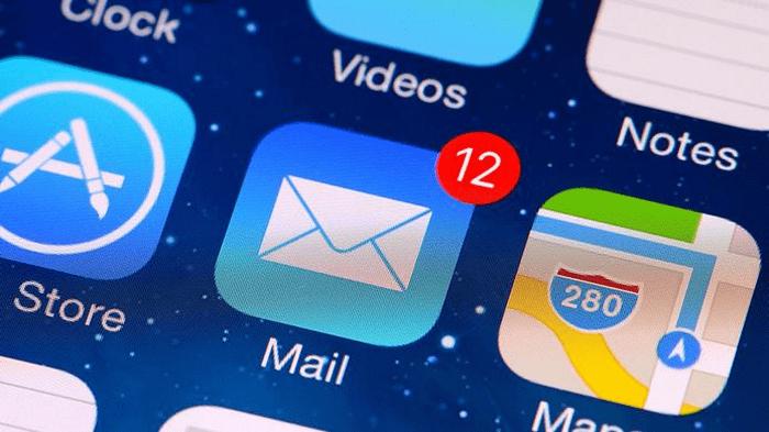 Почта iCloud вход через стандартное iOS-приложение