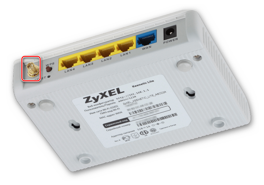 Подключение антенны к роутеру зиксель кинетик лайт