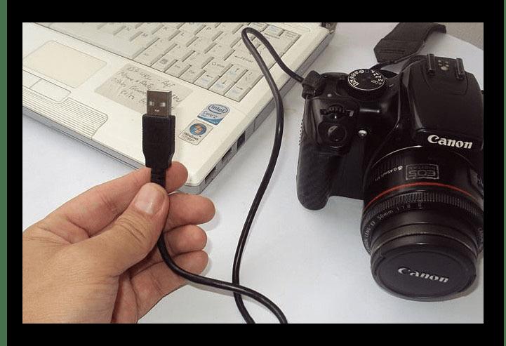Процесс подключения камеры к ПК через USB
