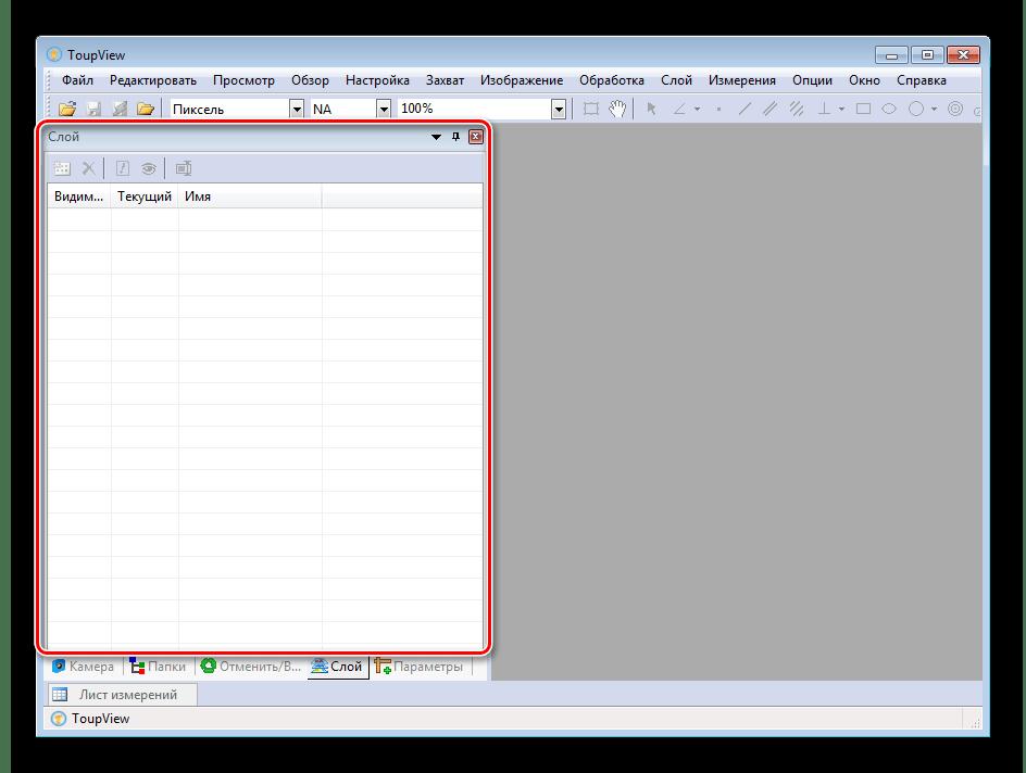Работа со слоями в программе ToupView