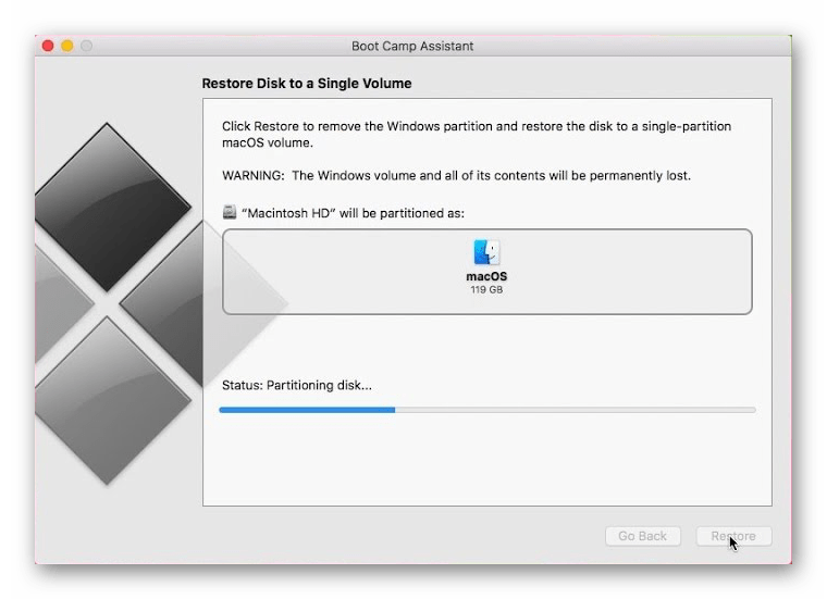 Установка Windows 10 на виртуальную машину Boot Camp для Mac OS