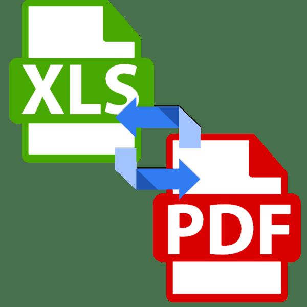 как конвертировать таблицу XLS в PDF