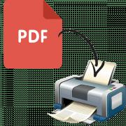 как распечатать pdf файл
