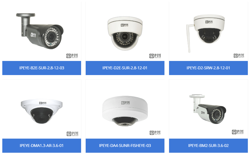 IP-камеры собственного производства системы видеонаблюдения IPEYE