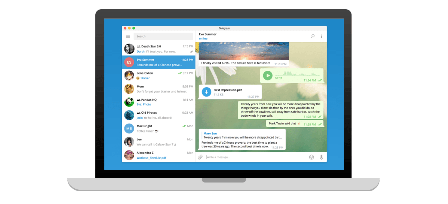 Как создать чат в Telegram для ПК Windows