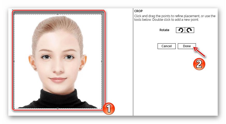 Обрезка исходной фотографии в онлайн-сервисе Makeover