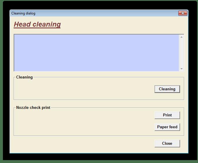 Очищение головки принтера через EPSON Adjustment Program