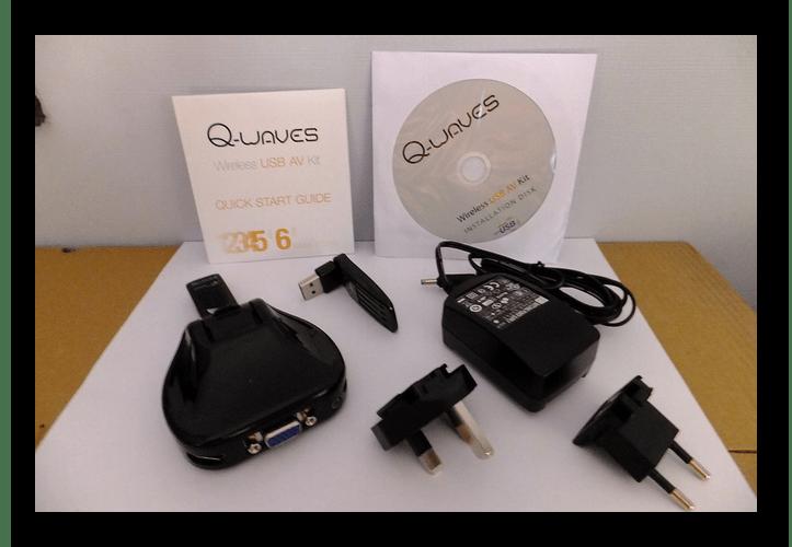 Пример полного комплекта Q-Waves Wireless USB AV