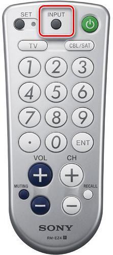 Пример пульта с кнопкой Input