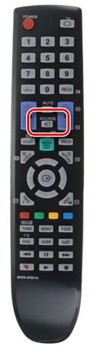 Пример пульта с кнопкой Source