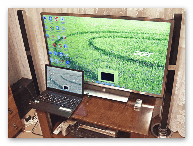 Пример успешного подключения ноутбука к ТВ