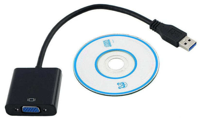 Пример внешней USB-видеокарты для преобразования VGA