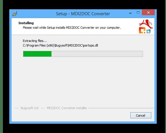 Процесс установки программы MDI2DOC на ПК