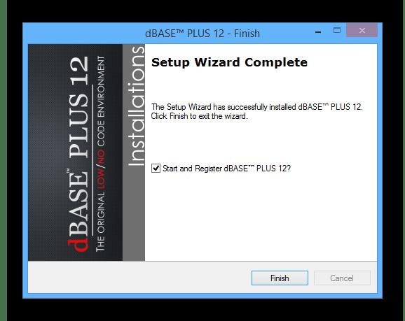 Процесс установки программы dBase на ПК
