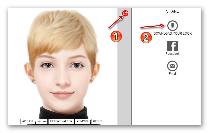 Скачивание готовой фотографии с онлайн-сервиса Makeover