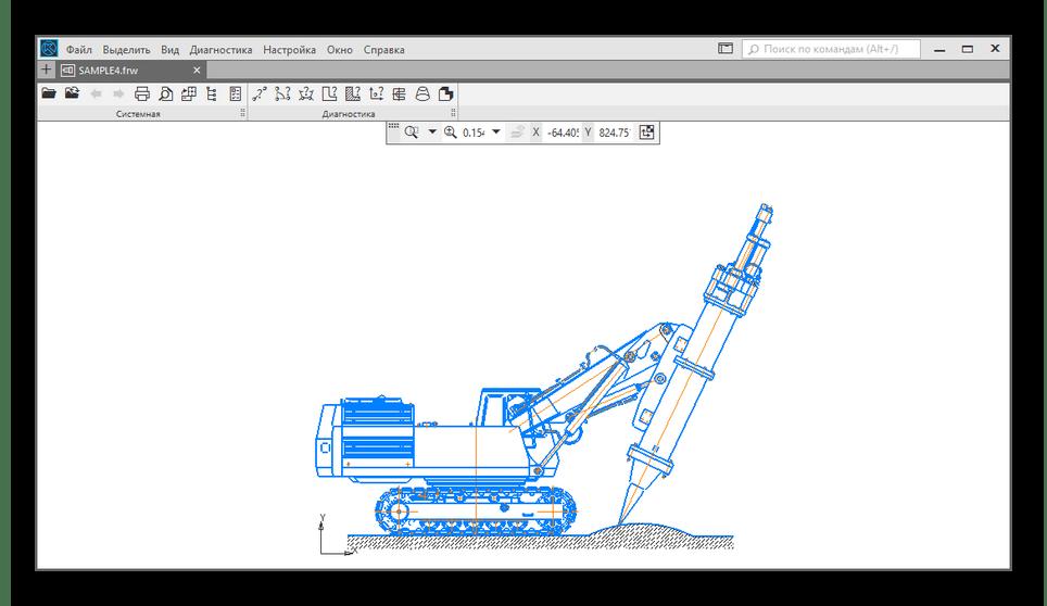 Успешно открытый FRW-файл в КОМПАС-3D Viewer