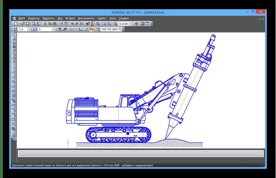 Успешно открытый FRW-файл в программе КОМПАС-3D