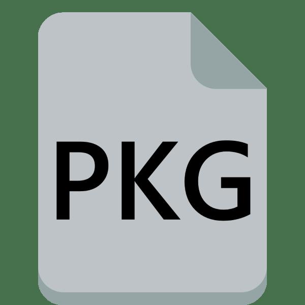 чем открыть pkg