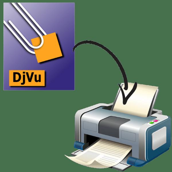 как распечатать djvu файл